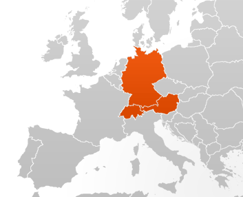 Dach europe map